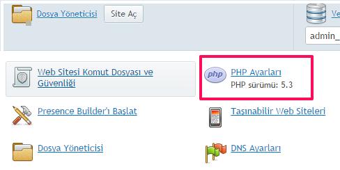 Plesk PHP Admin