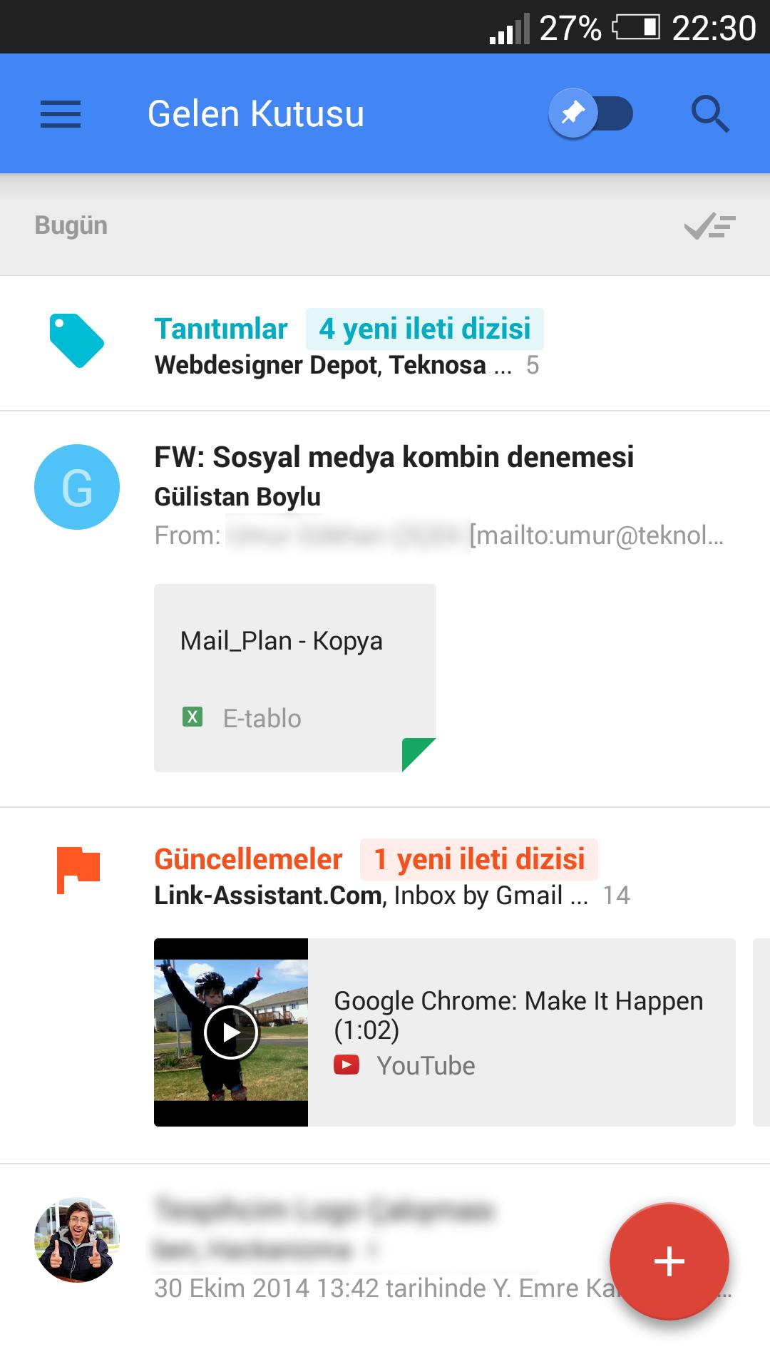 Mobil inbox