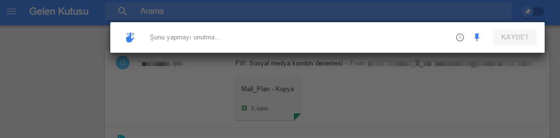 Inbox Hatırlatıcı