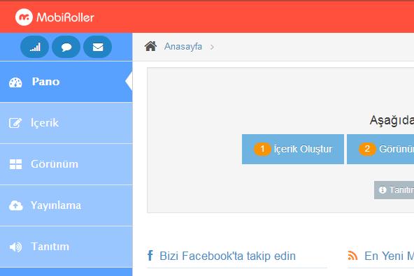 MobiRoller Kullanıcı Paneli