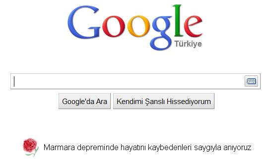 Rahmetle Anıyoruz ve Teşekkürler Google