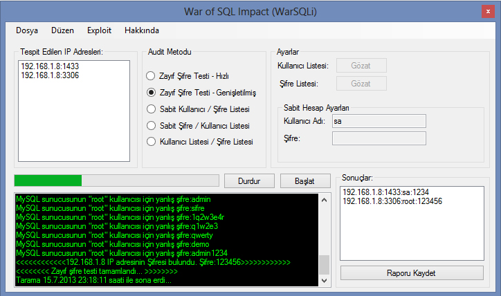 War of SQL Impact  (SQL Audit Tool)